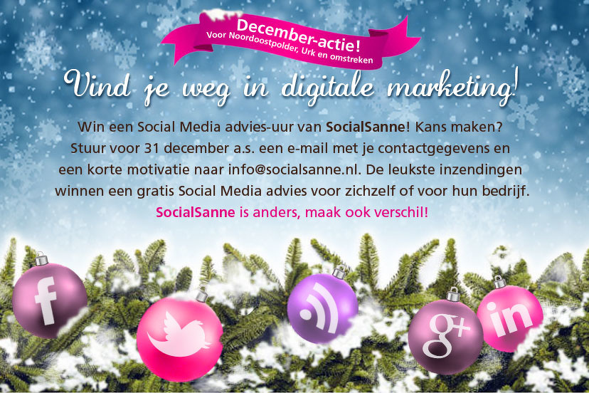 December-a​ctie: Vind je weg in digitale marketing!